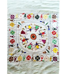 Chamba Rumal Rass Mandal Silk Thread Embroidery By Indu Sharma