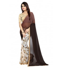 Cotton Silk Brown Gollabhama Saree For Women By Puresure Business