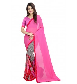 Cotton Silk Saree PInk Colour For Women By Puresure Business