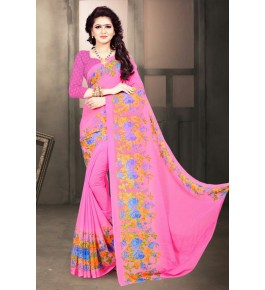 Cotton Silk Pink Gollabhama Saree For Women By Puresure Business