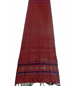 Hand Woven Cotton Red Tangaliya Shawl For Women