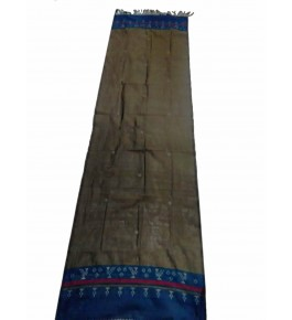 Hand Woven Cotton Mehndi & Blue Tangaliya Shawl For Women