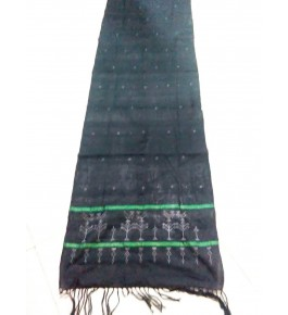 Hand Woven Cotton Grey Tangaliya Shawl For Women