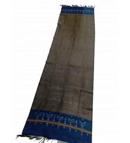 Hand Woven Cotton Dark Brown Tangaliya Shawl For Women