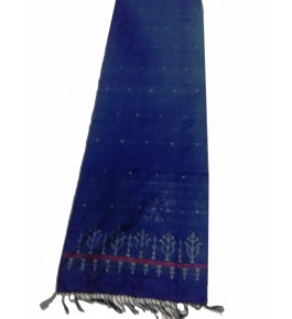 Hand Woven Cotton Blue Tangaliya Shawl For Women