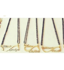 Handmade Beautiful Customize Name Necklace By Jhanvi Creations