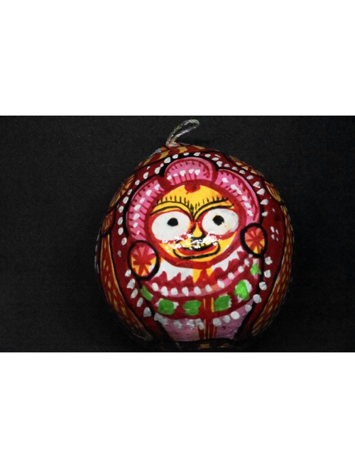 Colourful Hand Painted Coconut Showpiece For Home Decor By Indian Handicrafts