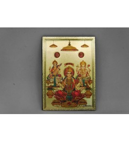 Handcrafted Metal Magnet Laxmi & Ganesha Photo Frame By Indian Handicrafts