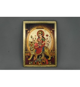Handcrafted Metal Magnet Maa Durga Photo Frame By Indian Handicrafts