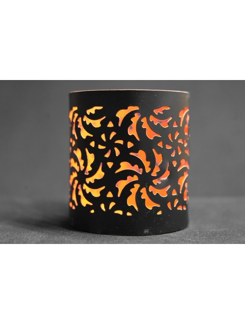 Handcrafted Iron Flower Etching T-Light Candle Stand By Indian Handicrafts