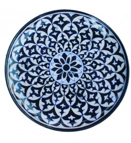 Handmade Ceramic Blue Pottery Wall Plate By Rajasthani Art & Craft