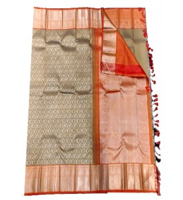 Handloom Traditional Kanchipuram Zari Beautiful Silk Saree for Women