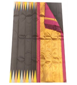 Handloom Traditional Kanchipuram Silk Black Saree for Women