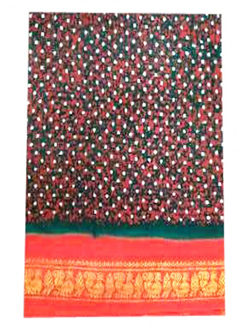 Traditional Madurai Sungudi Cotton Beautiful Multicolor Saree for Women