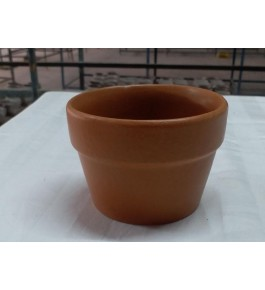 Beautiful Handmad Brown Color Khurja Pottery Pot for Flower & Plants