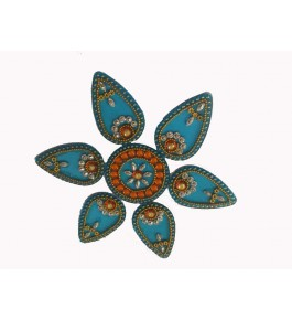 Kundan Creation Mini Rangoli Rearrangable Cum Wall Mounting Rangoli(6Inch)