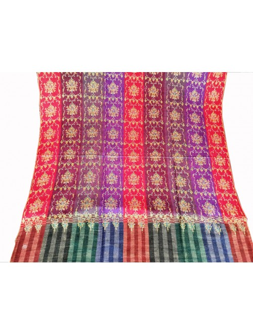 Hand Woven & Crafted Kashmir Pashmina Shawl For Women By Mir Arts