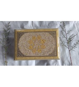 Kashmir Paper Mache Brown Touch Flat Box By Johnson Arts