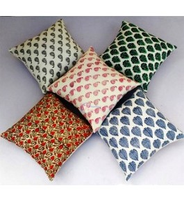 Bagru Hand Block Print Pillow Covers By Shree Shyam Textiles & Handicrafts