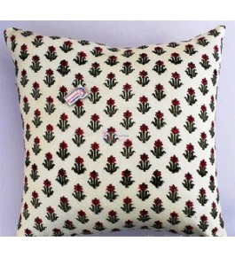 Bagru Hand Block Print Pillow Cover By Shree Shyam Textiles & Handicrafts