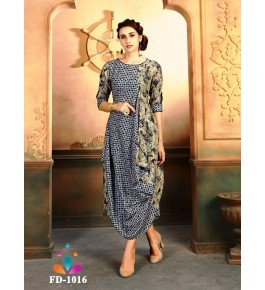 Designer Beautiful Multicolor Long Printed Gown For Women & Girls By Nakshatra Fashion Studio
