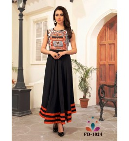 Designer Beautiful Black Long Gown For Women & Girls By Nakshatra Fashion Studio