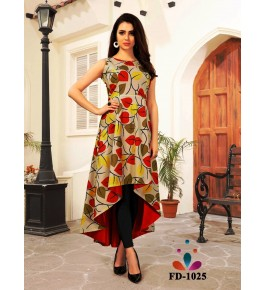 Designer Beautiful Multicolor High-Low Gown For Women & Girls By Nakshatra Fashion Studio