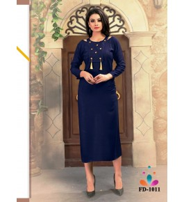 Designer Beautiful Navy Blue Kurti For Women & Girls By Nakshatra Fashion Studio