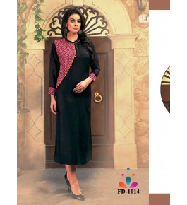 Designer Beautiful Black Kurti For Women & Girls By Nakshatra Fashion Studio