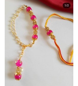 Beautiful Fancy Bracelet Couple Rakhi By Nancy Handicrafts