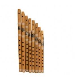Natural Bamboo Flute/Bansuri (Set Of 8) By Nabi & Sons