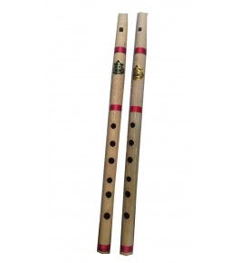 Natural Bamboo Flute/Bansuri (Set Of 2) By Nabi & Sons