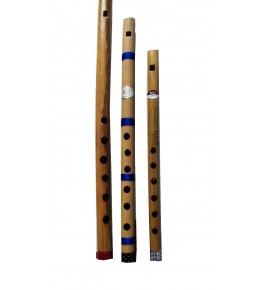Natural Bamboo Flute/Bansuri (Set Of 3) By Nabi & Sons