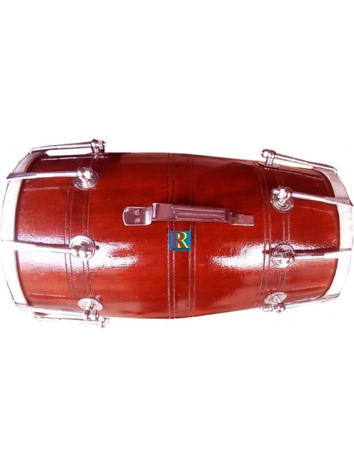 Handmade Nut & Bolts Dholak (Red) By Ram Raheem Handicrafts