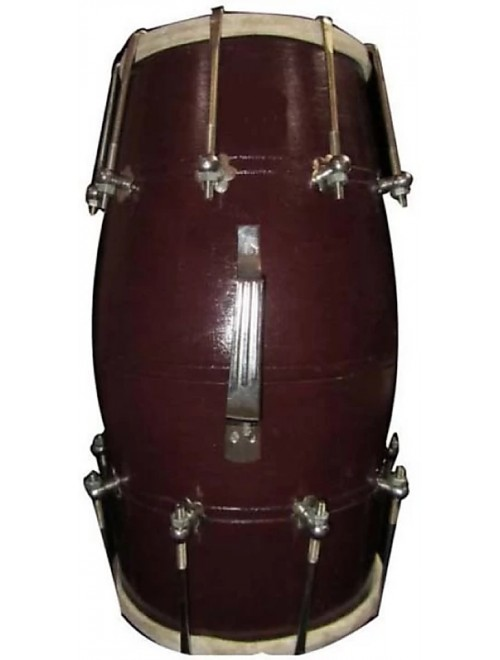Handmade Nut & Bolts  Dholak (Brown) By Ram Raheem Handicrafts