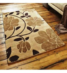 Mirzapur Dari Shaggy Woolen Carpet For Home Decor/Living Room/Bedroom (4x6 Ft) By One Place Rugs & Textiles