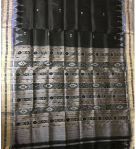 Beautiful Black Khandua Silk Saree for Women