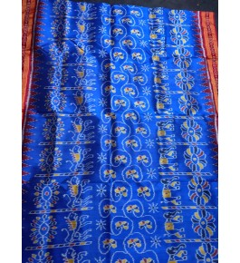 Amazing Blue Tribal Pattern Khandua Silk Saree for Women