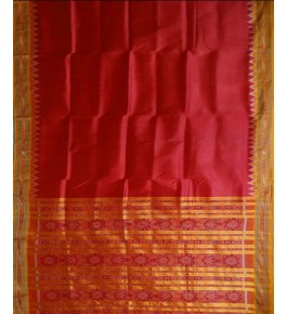 Graceful and Stylish Red Khandua Silk Saree for Women