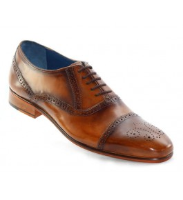 East India Leather Formal Brown Shoes For Men