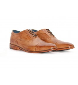 E.I. Leather Lace-up Formal Brown Shoes For Men