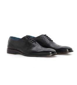 E.I. Leather Lace-up Formal Black Men's Shoes