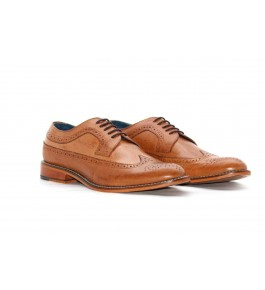 E.I. Leather Unique Design Formal Brown Men's Shoes