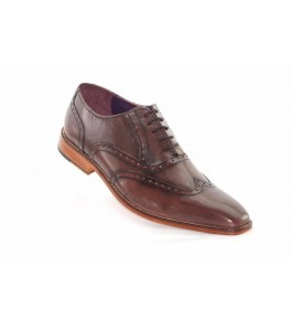 East India Leather Formal Dark Brown Shoes For Men