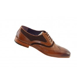 East India Leather Formal Lace-up Brown Shoes For Men