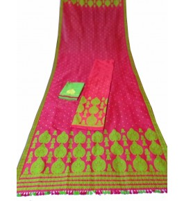 Muga Silk Handloom Pink Saree For Women By M/S Padminee Handloom
