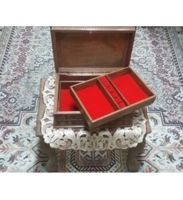 Traditional Walnut Wood Carving jewellery box of Jammu & Kashmir by Pandit Brothers
