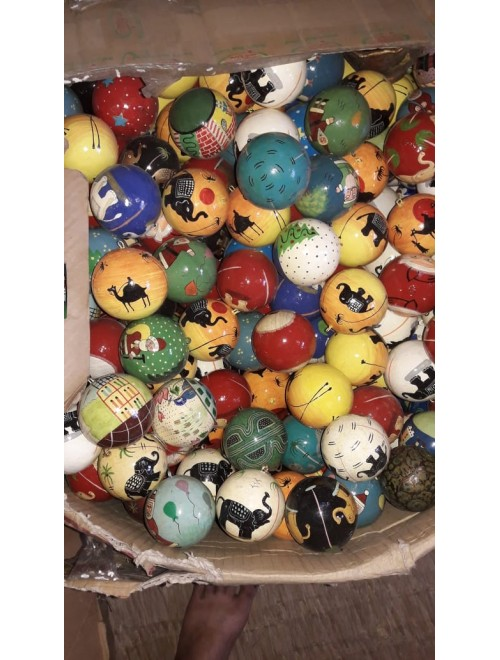 Kashmir Paper Mache Christmas Ball By Pandit Brothers