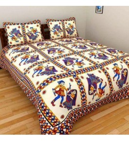Solapur Chaddar Beautiful Cotton Double Bedsheet