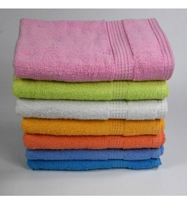 Soft Pure Cotton Colorful Terry Towels With Dobby Border By Kumar Enterprises